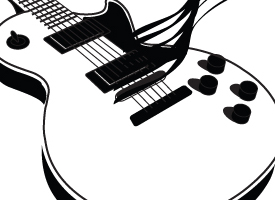 Guitar Strokes Illustration